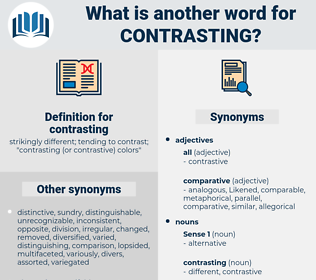 contrasting, synonym contrasting, another word for contrasting, words like contrasting, thesaurus contrasting