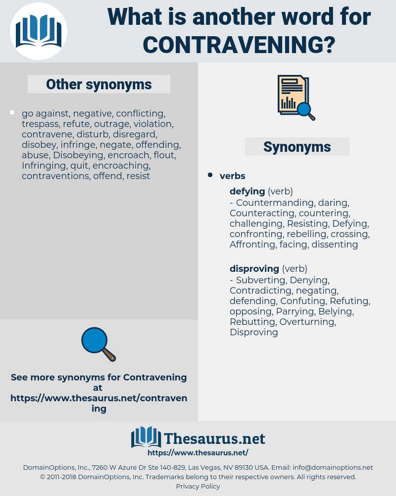 Contravening, synonym Contravening, another word for Contravening, words like Contravening, thesaurus Contravening