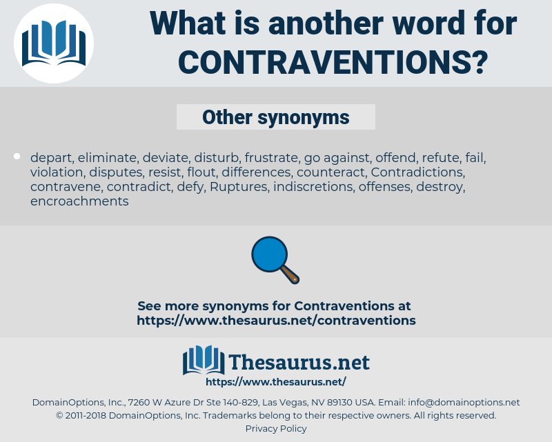 contraventions, synonym contraventions, another word for contraventions, words like contraventions, thesaurus contraventions