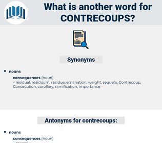contrecoups, synonym contrecoups, another word for contrecoups, words like contrecoups, thesaurus contrecoups
