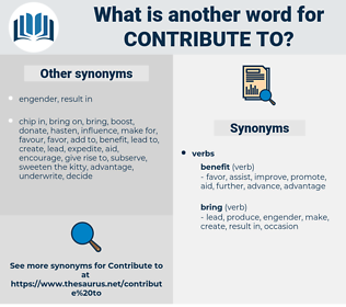 contribute to, synonym contribute to, another word for contribute to, words like contribute to, thesaurus contribute to