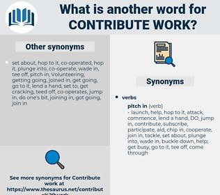 contribute work, synonym contribute work, another word for contribute work, words like contribute work, thesaurus contribute work