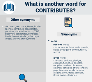contributes, synonym contributes, another word for contributes, words like contributes, thesaurus contributes