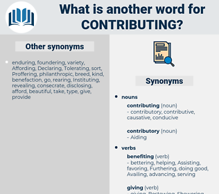contributing, synonym contributing, another word for contributing, words like contributing, thesaurus contributing
