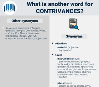 contrivances, synonym contrivances, another word for contrivances, words like contrivances, thesaurus contrivances