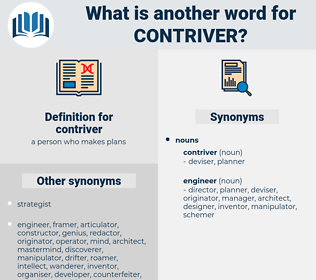 contriver, synonym contriver, another word for contriver, words like contriver, thesaurus contriver