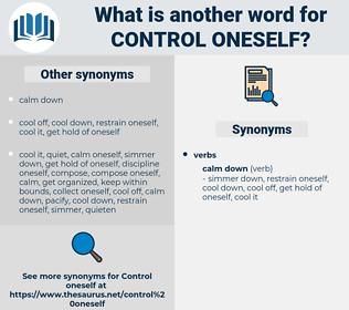 control oneself, synonym control oneself, another word for control oneself, words like control oneself, thesaurus control oneself