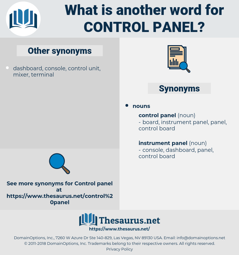 control panel, synonym control panel, another word for control panel, words like control panel, thesaurus control panel