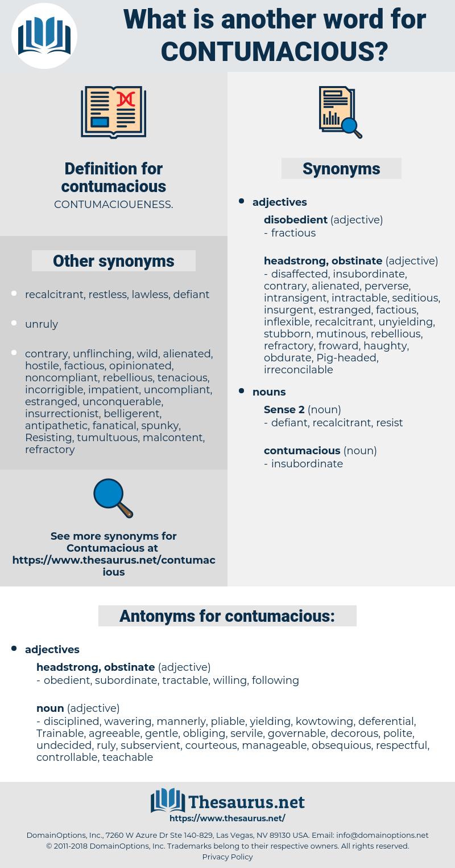 contumacious, synonym contumacious, another word for contumacious, words like contumacious, thesaurus contumacious