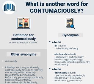 contumaciously, synonym contumaciously, another word for contumaciously, words like contumaciously, thesaurus contumaciously