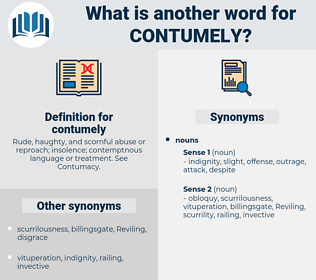 contumely, synonym contumely, another word for contumely, words like contumely, thesaurus contumely