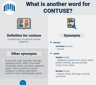 contuse, synonym contuse, another word for contuse, words like contuse, thesaurus contuse