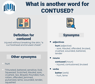 contused, synonym contused, another word for contused, words like contused, thesaurus contused
