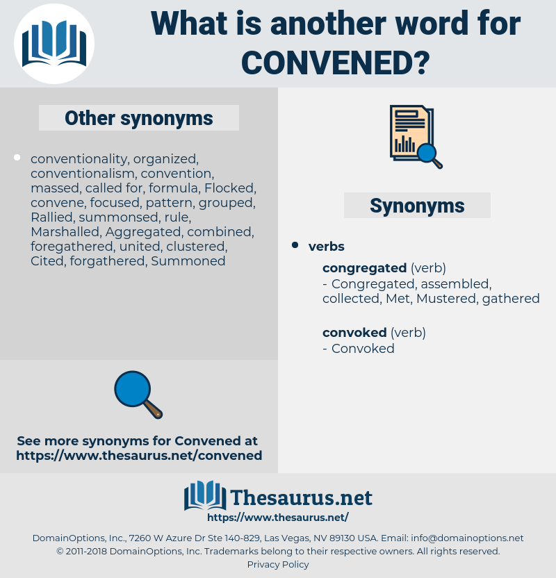 Convened, synonym Convened, another word for Convened, words like Convened, thesaurus Convened