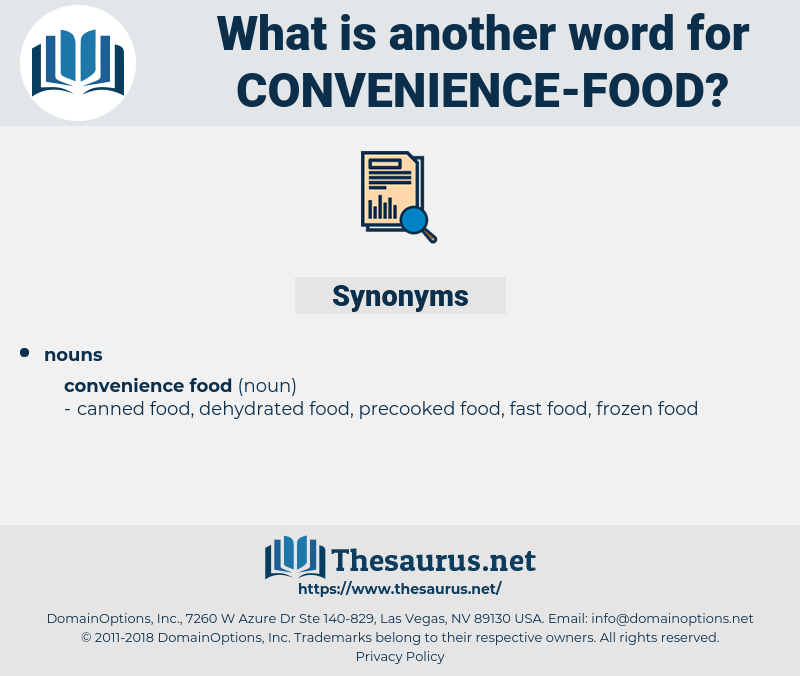 convenience food, synonym convenience food, another word for convenience food, words like convenience food, thesaurus convenience food