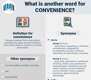 convenience, synonym convenience, another word for convenience, words like convenience, thesaurus convenience