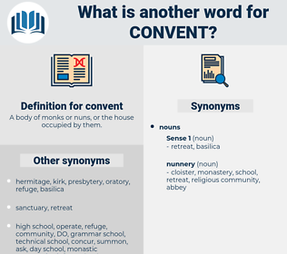 convent, synonym convent, another word for convent, words like convent, thesaurus convent