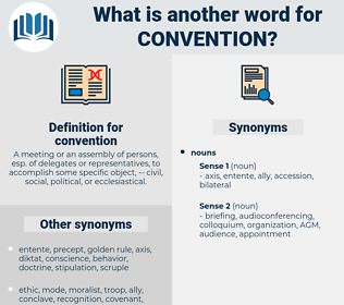 convention, synonym convention, another word for convention, words like convention, thesaurus convention