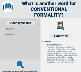 conventional formality, synonym conventional formality, another word for conventional formality, words like conventional formality, thesaurus conventional formality