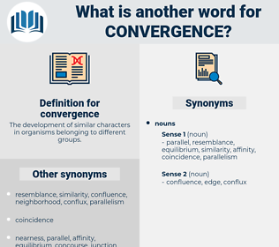 convergence, synonym convergence, another word for convergence, words like convergence, thesaurus convergence