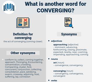 converging, synonym converging, another word for converging, words like converging, thesaurus converging