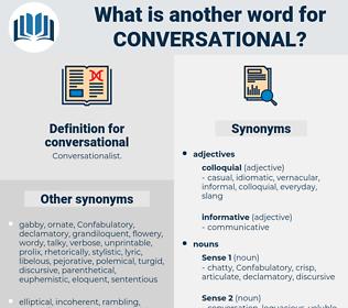 conversational, synonym conversational, another word for conversational, words like conversational, thesaurus conversational