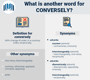conversely, synonym conversely, another word for conversely, words like conversely, thesaurus conversely