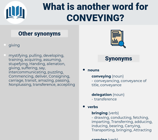 conveying, synonym conveying, another word for conveying, words like conveying, thesaurus conveying