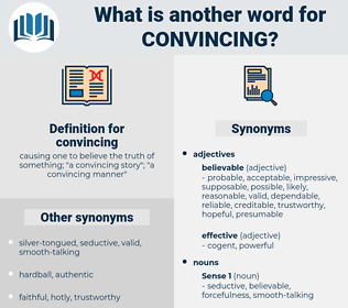 convincing, synonym convincing, another word for convincing, words like convincing, thesaurus convincing
