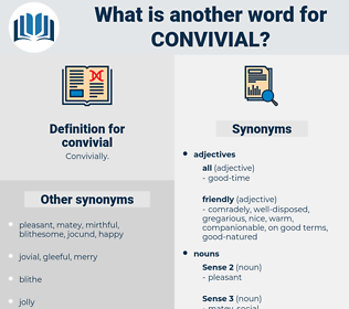 convivial, synonym convivial, another word for convivial, words like convivial, thesaurus convivial