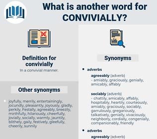 convivially, synonym convivially, another word for convivially, words like convivially, thesaurus convivially