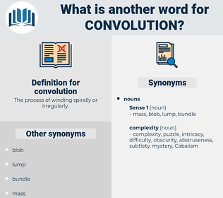 convolution, synonym convolution, another word for convolution, words like convolution, thesaurus convolution