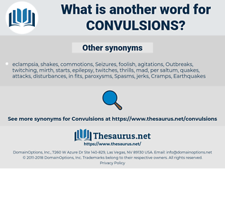 Convulsions, synonym Convulsions, another word for Convulsions, words like Convulsions, thesaurus Convulsions