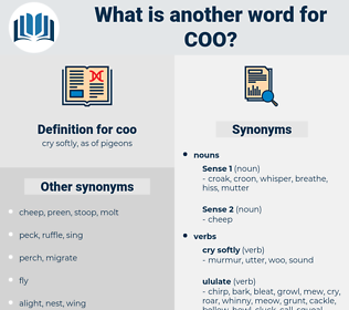 coo, synonym coo, another word for coo, words like coo, thesaurus coo