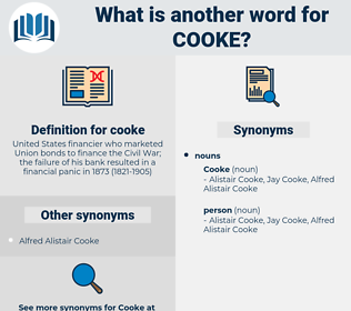 cooke, synonym cooke, another word for cooke, words like cooke, thesaurus cooke