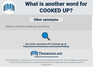 cooked-up, synonym cooked-up, another word for cooked-up, words like cooked-up, thesaurus cooked-up