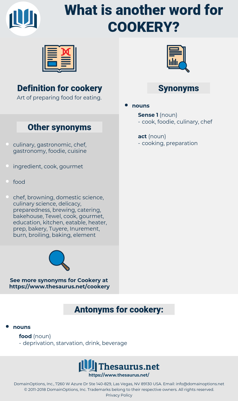 cookery, synonym cookery, another word for cookery, words like cookery, thesaurus cookery