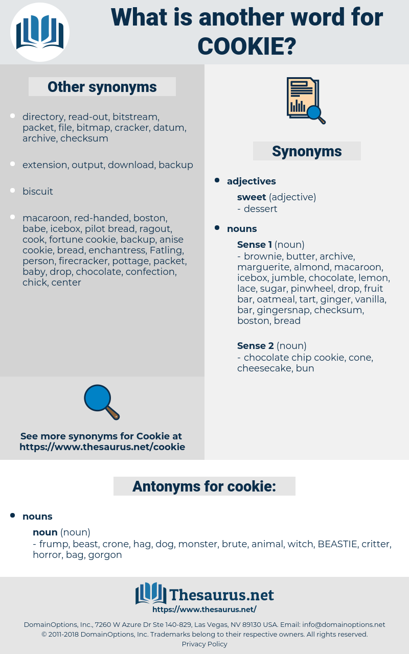 cookie, synonym cookie, another word for cookie, words like cookie, thesaurus cookie
