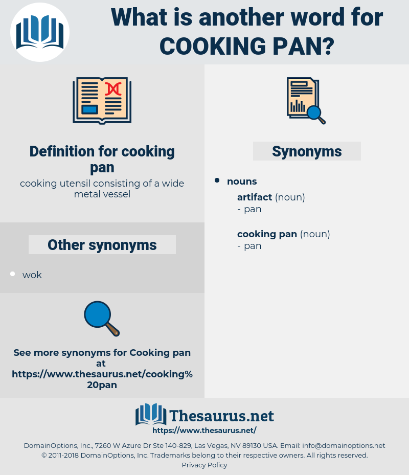 cooking pan, synonym cooking pan, another word for cooking pan, words like cooking pan, thesaurus cooking pan