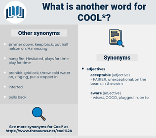 cool, synonym cool, another word for cool, words like cool, thesaurus cool