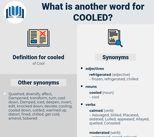 cooled, synonym cooled, another word for cooled, words like cooled, thesaurus cooled