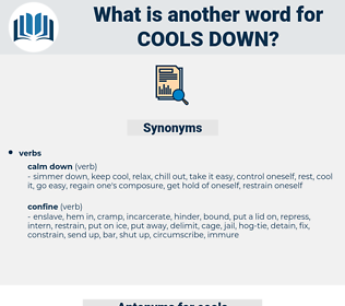 cools down, synonym cools down, another word for cools down, words like cools down, thesaurus cools down