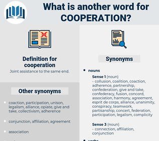 cooperation, synonym cooperation, another word for cooperation, words like cooperation, thesaurus cooperation