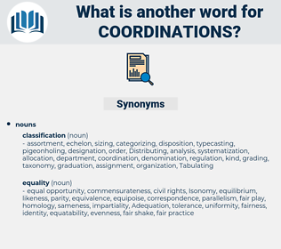 coordinations, synonym coordinations, another word for coordinations, words like coordinations, thesaurus coordinations