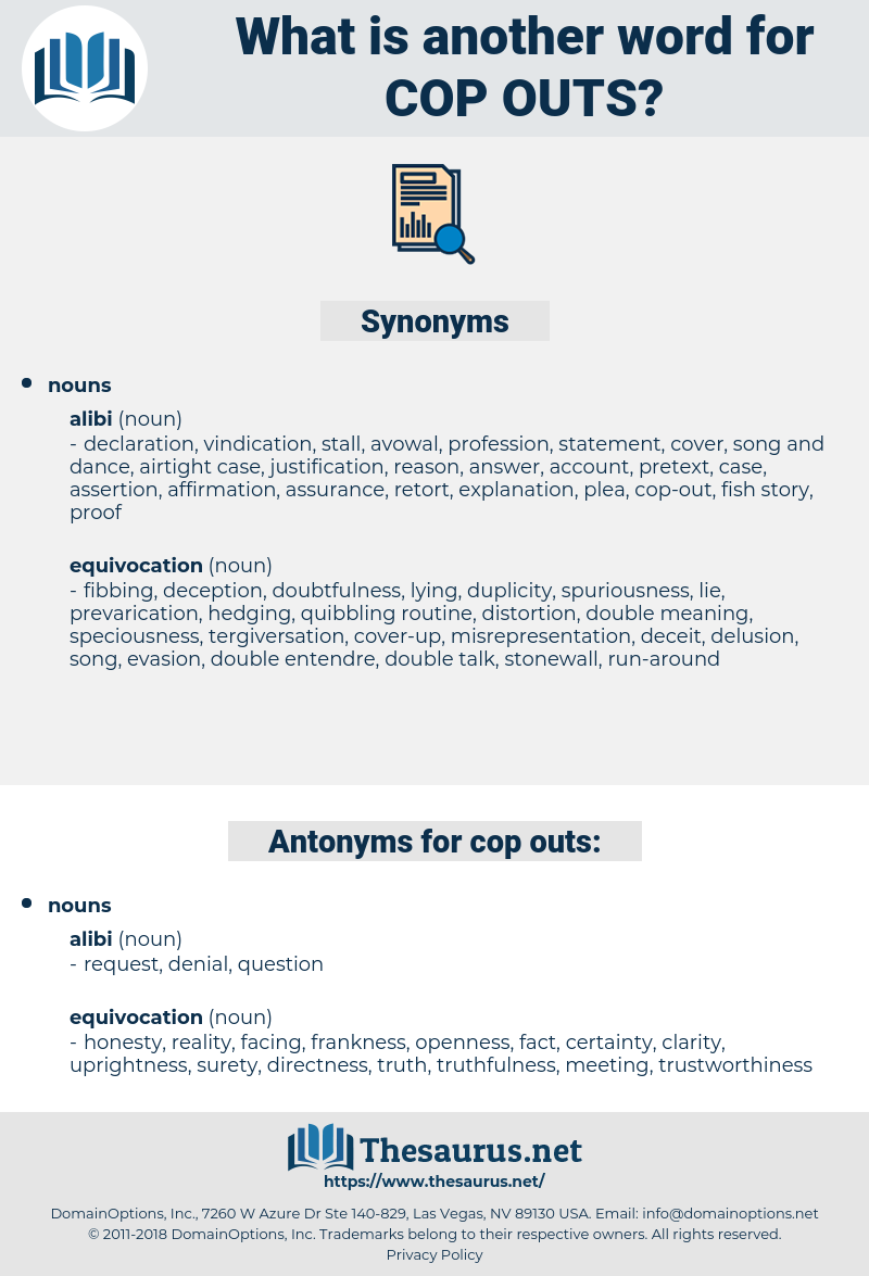cop outs, synonym cop outs, another word for cop outs, words like cop outs, thesaurus cop outs