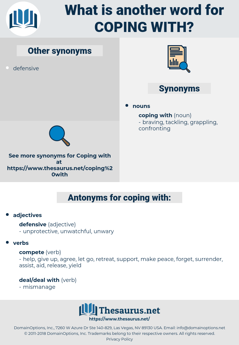 coping with, synonym coping with, another word for coping with, words like coping with, thesaurus coping with