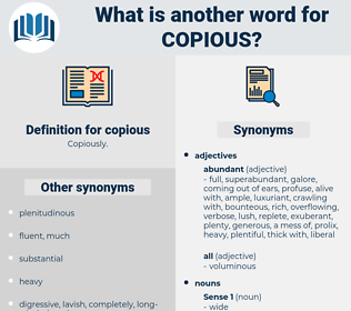 copious, synonym copious, another word for copious, words like copious, thesaurus copious