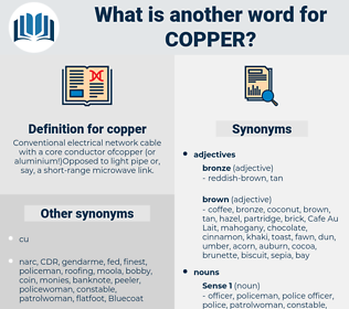 copper, synonym copper, another word for copper, words like copper, thesaurus copper