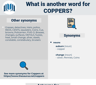 coppers, synonym coppers, another word for coppers, words like coppers, thesaurus coppers