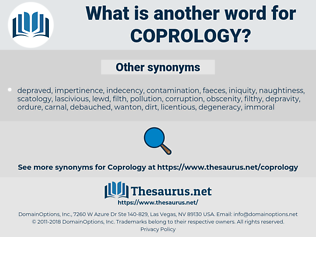coprology, synonym coprology, another word for coprology, words like coprology, thesaurus coprology